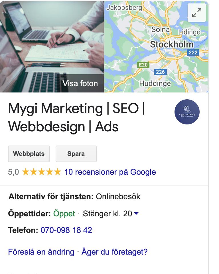 GMB info Mygi Marketing